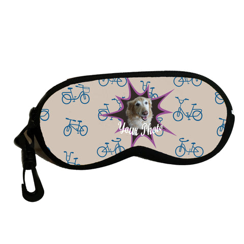 Kids Eyeglass case with zipper - personalize with a favorite photo- bicycle design,Eyeglass case,CotswoldDownsCrafts,CotswoldDownsCrafts