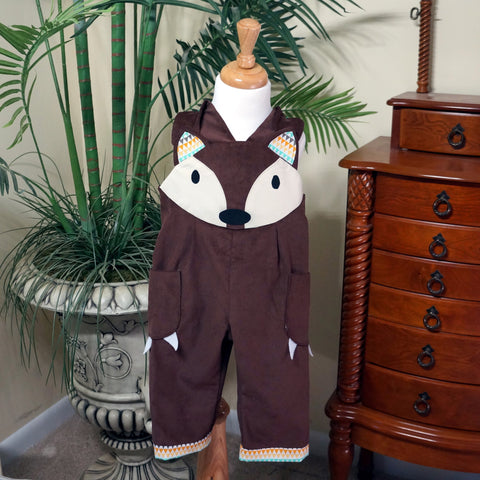 Friendly Fox Dungarees,Kids clothes,CotswoldDownsCrafts,CotswoldDownsCrafts