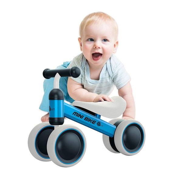 YGJT Baby Balance Bikes Bicycle Baby Walker Toys Rides for 1 Year Boys Girls 10 Months-24 Months Baby's First Bike First Birthday Gift Blue