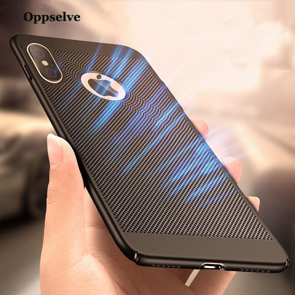 Breath Dissipation Phone Case For iPhone X 7 6 6s Plus Luxury Ultra Thin Slim Hard PC Cover Coque Capinhas Telefontok For iPhonX