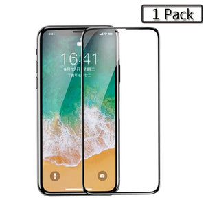 Tempered Glass For iPhone X 9 PET Edge 3D Full Cover Protection Screen Protector Toughened Glass Film For iPhone Xs Xs Plus 2PCS
