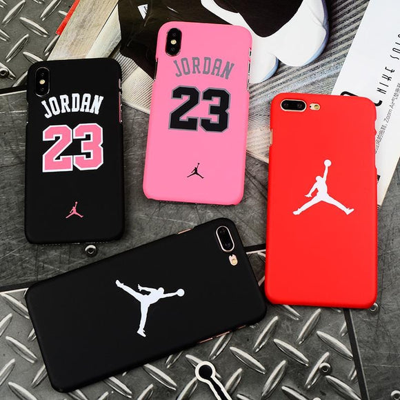 Hot Michael Jordan 23 bull sports Matte hard plastic case for iphone 7 7plus 5 5s SE 6 S 6s plus 8 8plus X Coque cover cases