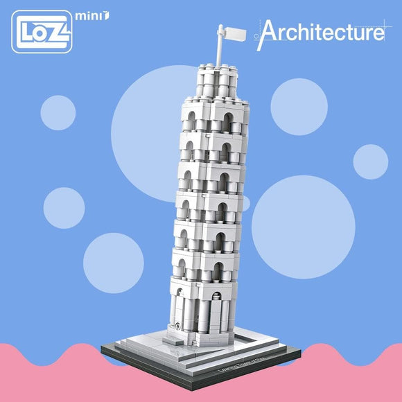 LOZ Blocks Architecture Toy The Leaning Tower of Pisa Model Educational Toys For Children DIY World Famous Building Model 1010