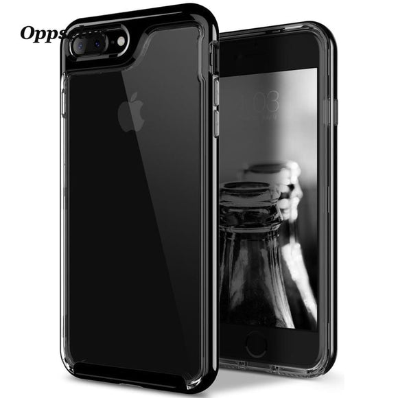 Luxury Case For iPhone 8 7 6 6s Ultra Thin Capinhas PC & TPU Silicone Cover Case For iPhone 8 7 6 s Plus Phone Pouch Capa Coque