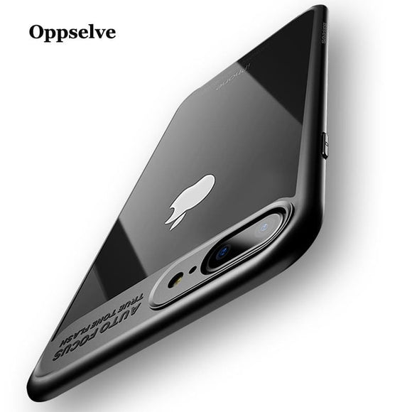 Oppselve Luxury Case For iPhone 8 7 6 s Ultra Thin Capinhas PC & TPU Silicone Cover Case For iPhone 8 7 6 s 6s Plus Coque Fundas