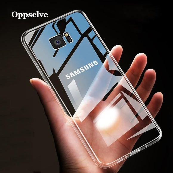 Oppselve Soft Silicone Case For Samsung Note 9 8 S9 S8 S10 Plus Coque Transparent TPU Back Cover For Samsung Galaxy S9 S8 Fundas