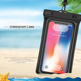 Oppselve Universal Waterproof Case For iPhone XS Max Xr X 8 7 6S Samsung S9 S8 S10 Plus Note 9 8 Waterproof Pouch Swimming Black