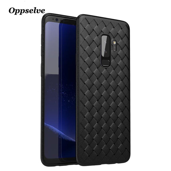 Oppselve Weave Case For Samsung Galaxy S9 S9 Plus Ultra Thin Slim Cover For Galaxy S9 S9+ Capinhas Soft TPU Shell Coque Fundas