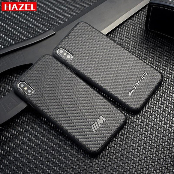 Performance sports car AMG M carbon fiber Case Cover for iPhone 7 X 6 6S 8 plus XR XS MAX High quality Luxury Phone Cases Coque