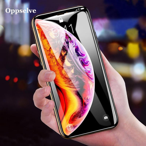 Screen Protector Tempered Glass For iPhone X 10 Xr PET Edge 3D Full Cover Protection Toughened Glass Film For iPhone XS XS MAX