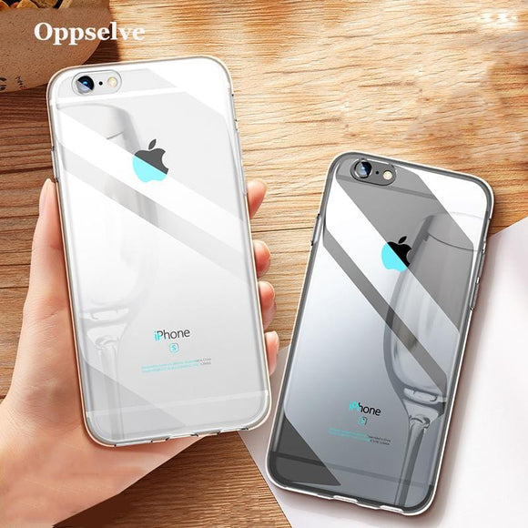 Silicone Phone Case For iPhone X 10 8 7 6 s 6s Plus Transparent TPU Cover Case For iPhone 8Plus 7Plus Coque Capinhas Telefontok