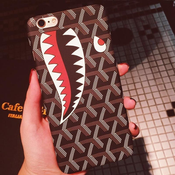 for iPhone 7 Plus phone case Designer Brand New Shark Cover for Capinhas iPhone 6 6s 7 8 Plus iphone7 6PLUS 7PLUS 8PLUS Coque