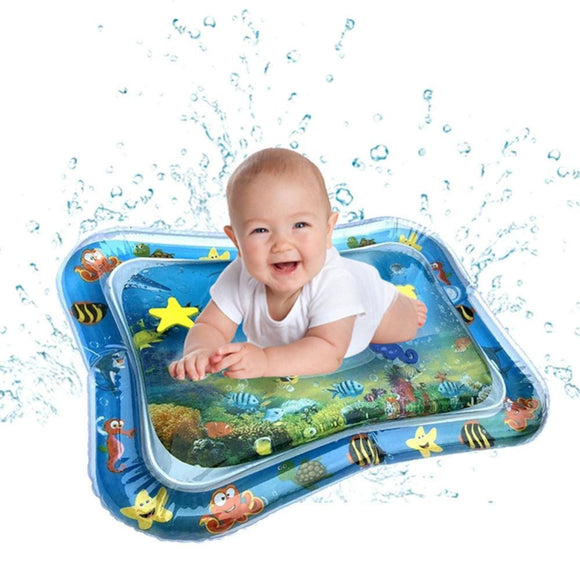 Baby Kids Water Play Mats Inflatable Infants Tummy Time Playmat Toys Fun Activity Carpet Hand-eye Coordination Toys for Children