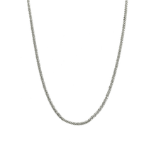Load image into Gallery viewer, CU JEWELLERY ROOF BIG PLAIN LONG NECKLACE SILVER