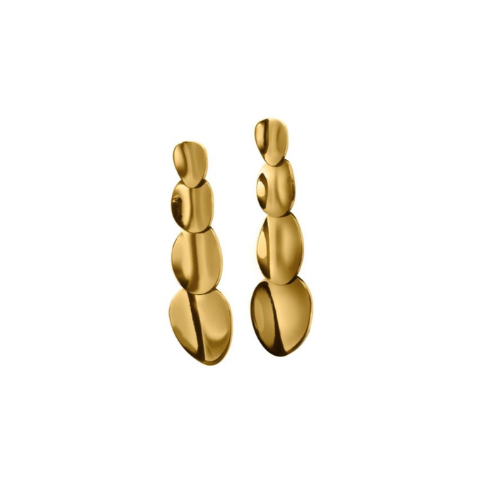 EDBLAD PEBBLE EARRINGS LONG GOLD