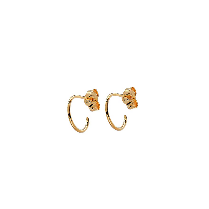 CU JEWELLERY TWO SMALL ROUND EAR GOLD
