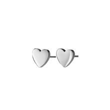 Load image into Gallery viewer, EDBLAD PURE HEART STUD EARRINGS STEEL