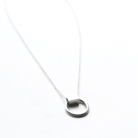 LA TERRA JEWELRY DAINTY SILVER NECKLACE