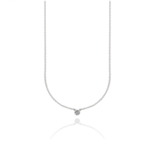 Load image into Gallery viewer, CU JEWELLERY CUBIC SMALL NECKLACE SILVER