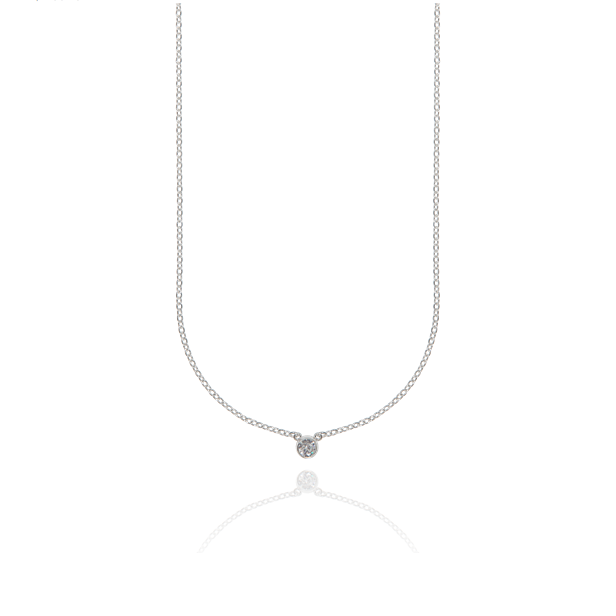 CU JEWELLERY CUBIC SMALL NECKLACE SILVER