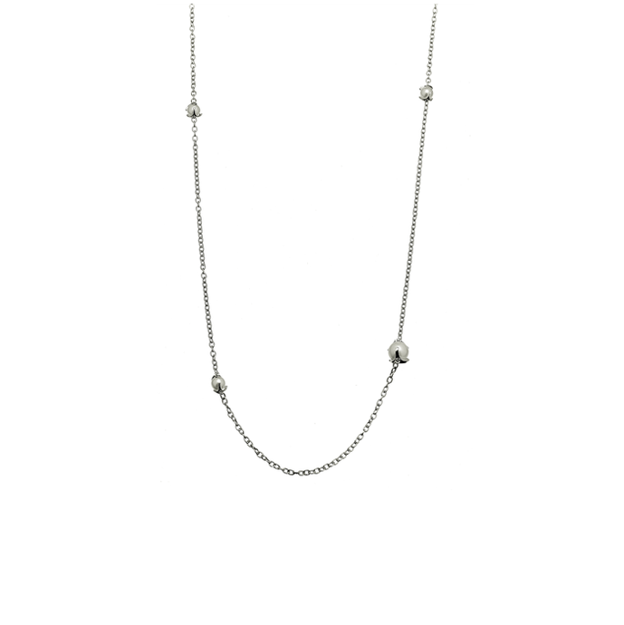 CU JEWELLERY PEARL NECKLACE LONG SILVER