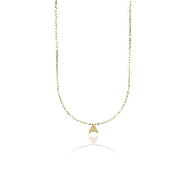 CU JEWELLERY FLY LONG NECKLACE GOLD