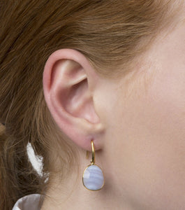 SYSTER P GLAM GLAM EARRINGS BLUE LACE AGATE