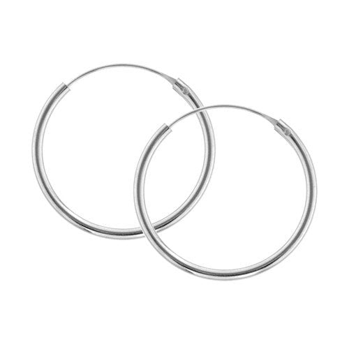 PLAIN CREOLES SILVER COMES IN 3 SIZES
