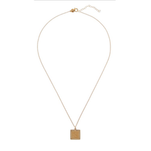 Load image into Gallery viewer, CU JEWELLERY TWO SQUARE PENDANT GOLD