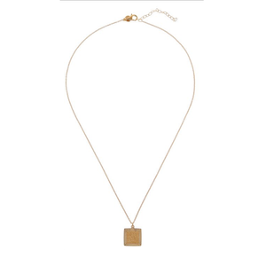CU JEWELLERY TWO SQUARE PENDANT GOLD
