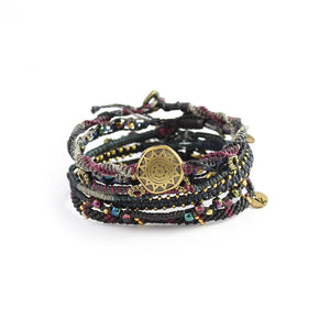 WAKAMI WOMENS EARTH BRACELET-7 STRANDS