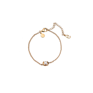 CU JEWELLERY PEARL CHAIN BRACELET GOLD