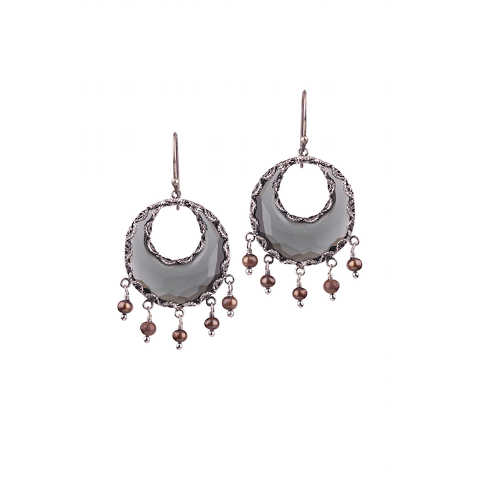 YVONE CHRISTA AQUA DECOR EARRINGS