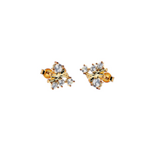 Load image into Gallery viewer, CU JEWELLERY TWO KLUSTER EARRINGS GOLD