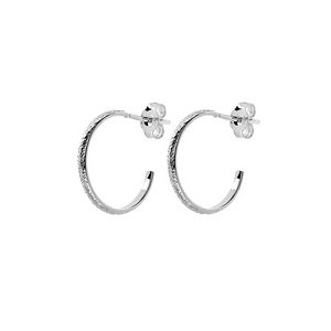 CU JEWELLERY PEARL VINTAGE ROUND EAR SILVER