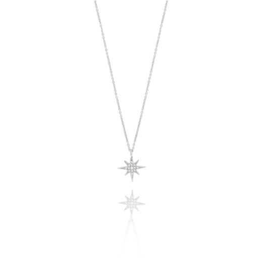 CU JEWELLERY ONE STAR NECKLACE SILVER