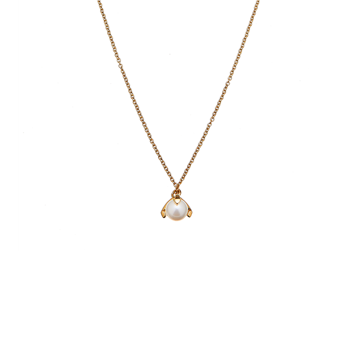 CU JEWELLERY PEARL NECKLACE SHORT GOLD