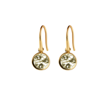 Load image into Gallery viewer, SYSTER P LONE STAR EARRINGS GOLD GREEN AMETHYST