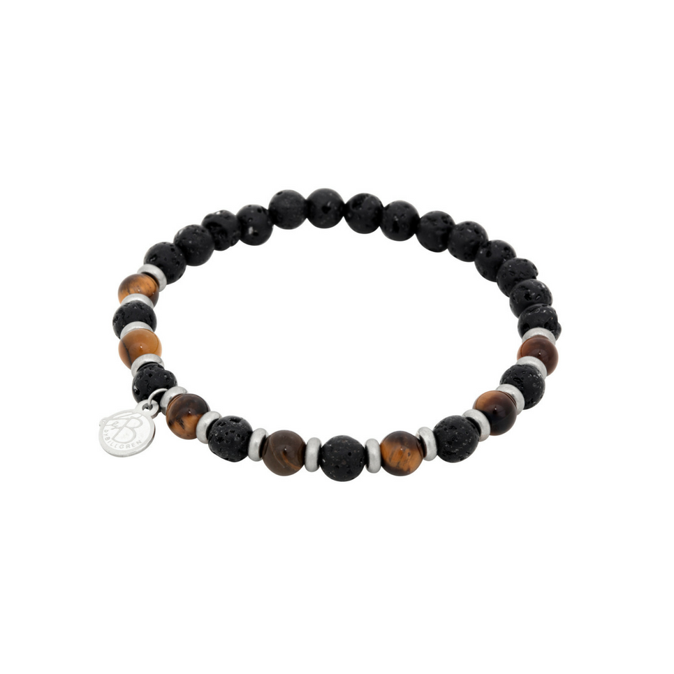 BY BILLGREN BEADS ARMBAND SVART BRUN