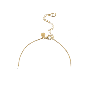 CU JEWELLERY PETAL PENDANT NECKLACE GOLD