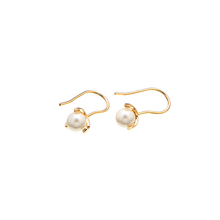 Load image into Gallery viewer, CU JEWELLERY PEARL LONG EAR GOLD