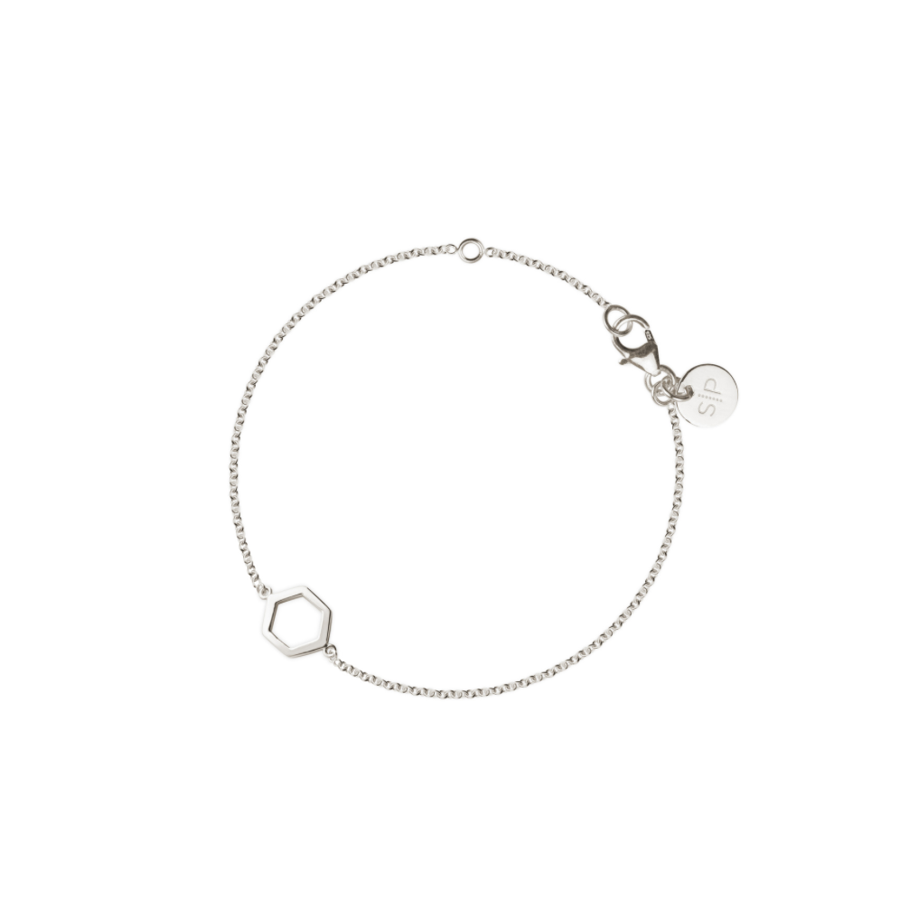 SYSTER P STRICT SIMPLE HEXAGON BRACELET SILVER