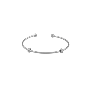 CU JEWELLERY LETTERS BANGLE SILVER