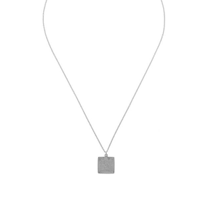 CU JEWELLERY TWO SQUARE PENDANT SILVER