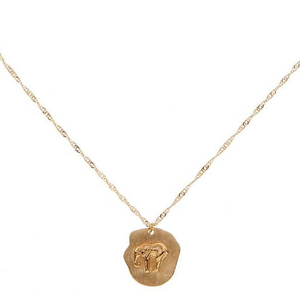 CU JEWELLERY TWO ELEPHANT NECKLACE GOLD