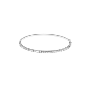 CU JEWELLERY TWO BANGLE BRACELET SILVER