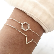 Load image into Gallery viewer, SYSTER P STRICT SIMPLE HEXAGON BRACELET SILVER