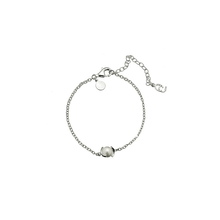 Load image into Gallery viewer, CU JEWELLERY PEARL CHAIN BRACELET SILVER