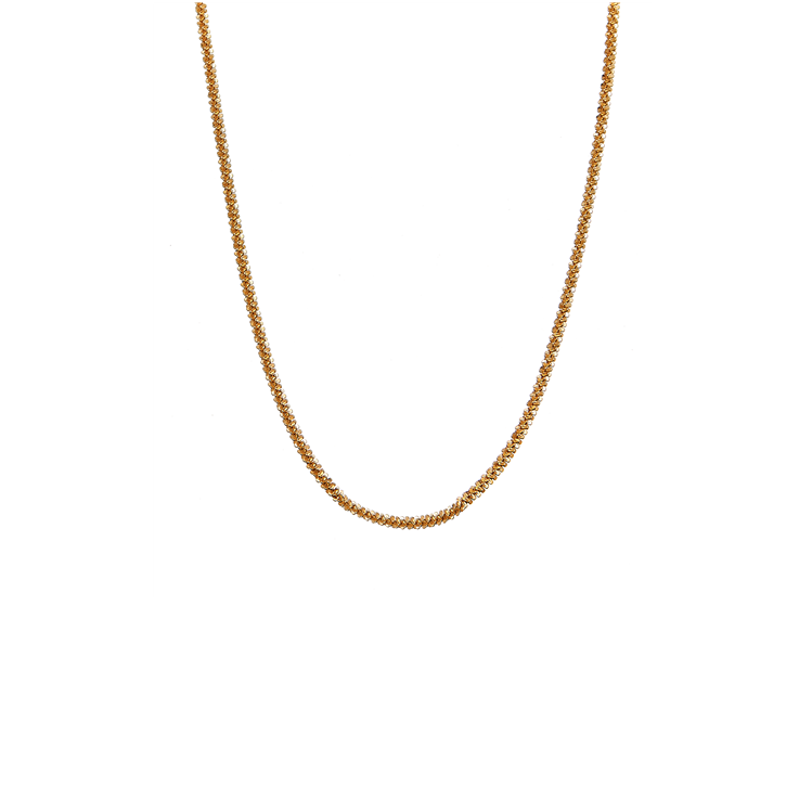 CU JEWELLERY ROOF BIG PLAIN SHORT NECKLACE GOLD
