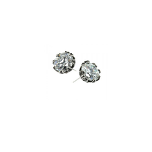 Load image into Gallery viewer, YVONE CHRISTA TULIP EARRINGS LARGE POST, CZ